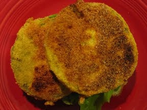 cooking light's open-faced bacon, lettuce, and fried green tomato ...