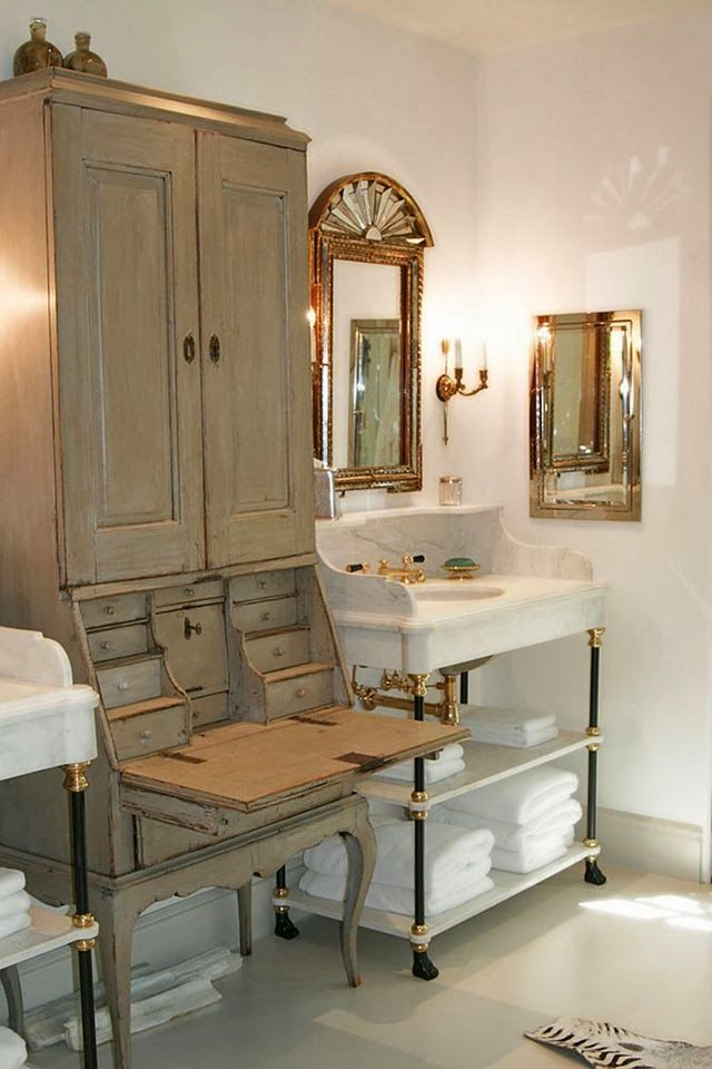 Gorgeous Bathroom New Of Antique Secretary in Bathroom Photos