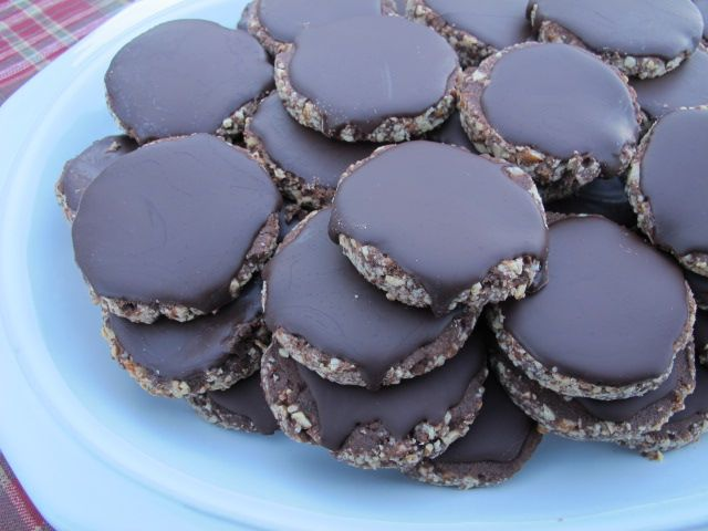These look nice! Chocolate Mint Cookies (Gluten-free, Dairy-free)