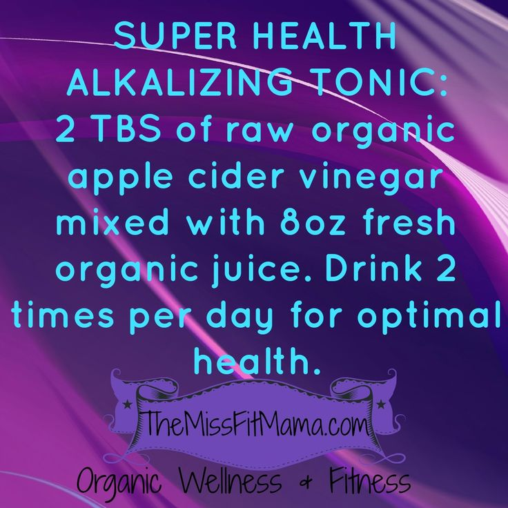 Super Health Alkalizing Tonic http://themissfitmama.com/2013/03/31/ways-to-use-apple-cider-vinegar-recipes-and-remedies/