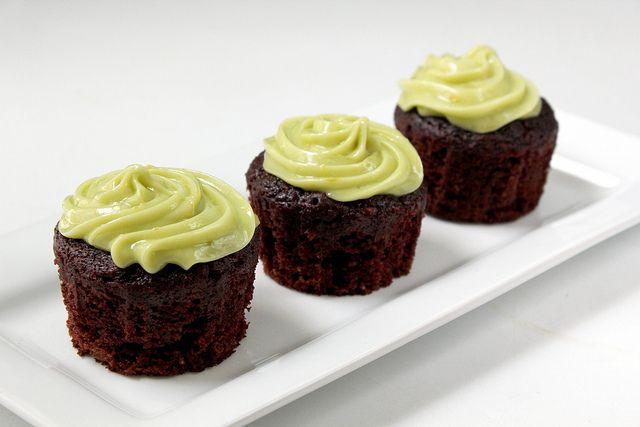Chocolate Avocado Cupcakes With Avocado ButtercreamFrosting