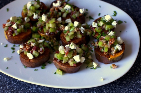sweet potatoes and goat cheese | Gluten Free | Pinterest