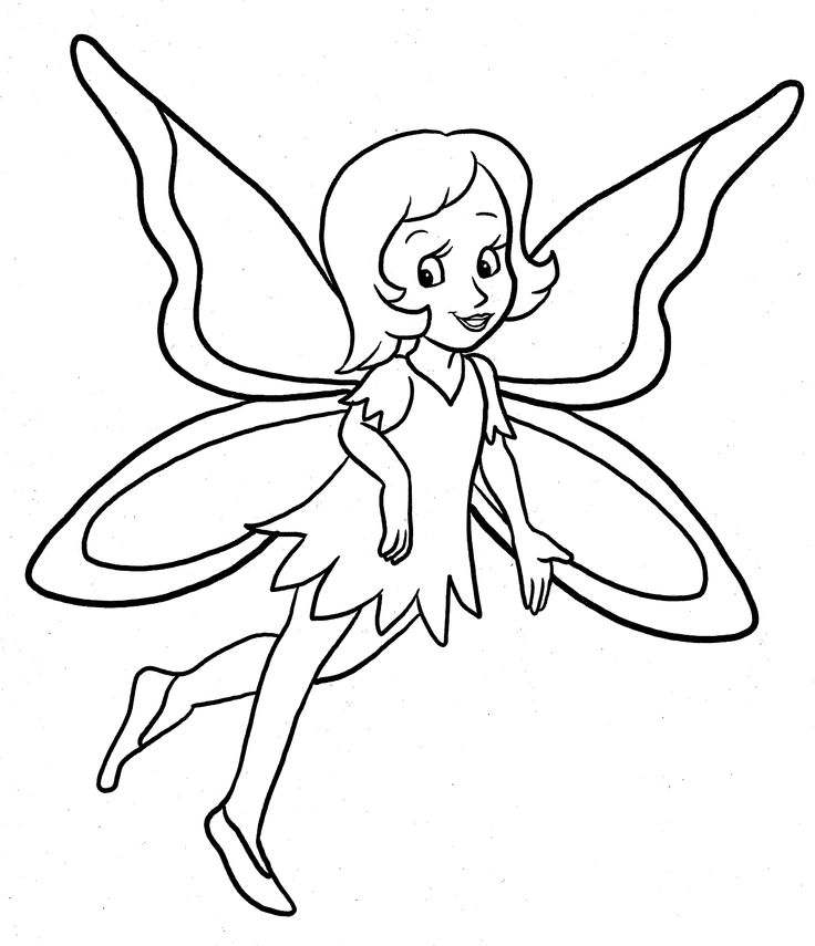 fairy coloring pages pinterest - photo#16
