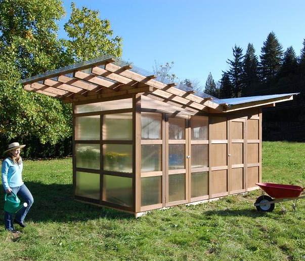 A shed greenhouse brilliant secret garden pinterest for Modern greenhouse design