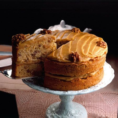 Coffee And Walnut Cake By Mary Berry