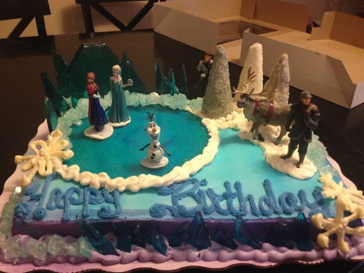 frozen themed birthday cake walmart