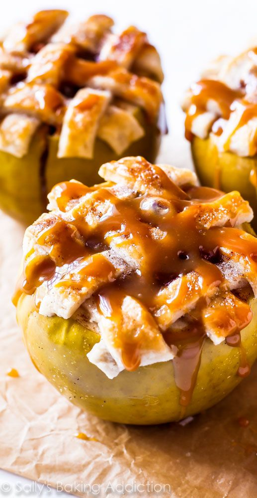 Apple Pie IN APPLES. With homemade crust that tastes 1,000% better ...