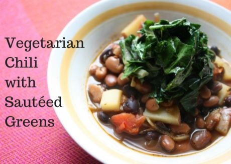 Meatless Monday: Vegetarian Chili with Sauteed Greens | Recipe