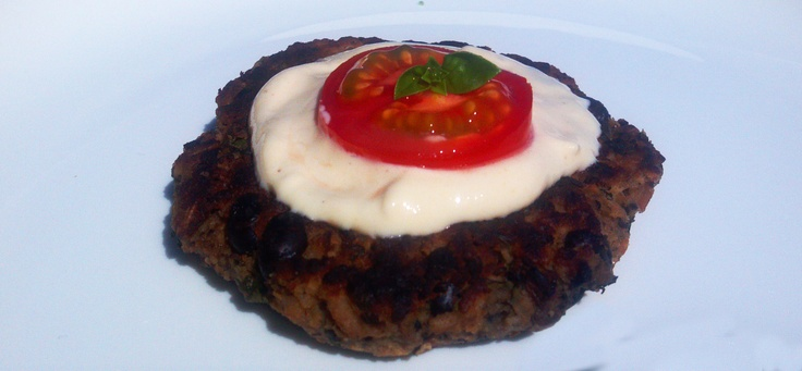 Brilliant Burger aka F-Bomb (Farro, Beans, Oats & Mushroom Burger)