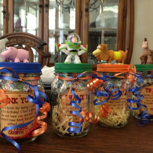 Birthday Party Favors Mason Jars 1 Characters For Top And Then