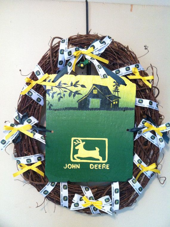 John Deere Home Decor : John deere wreath home decor