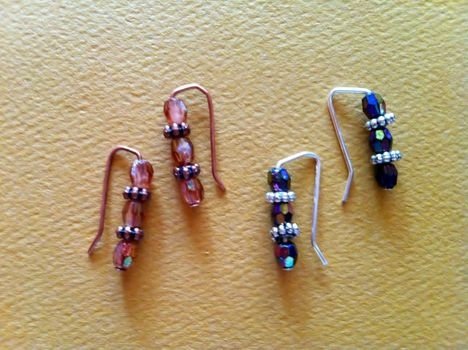 earrings out of head pins