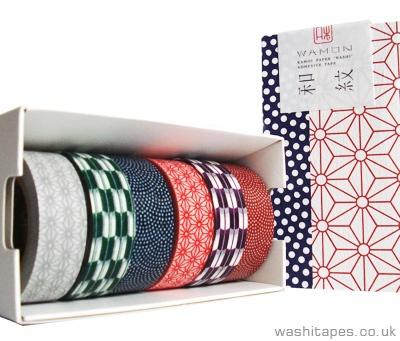 MT Wamon 6 piece pattern Washi Tape.  £18.79 with £2.75 postage. (Japanese Washi masking tapes)
