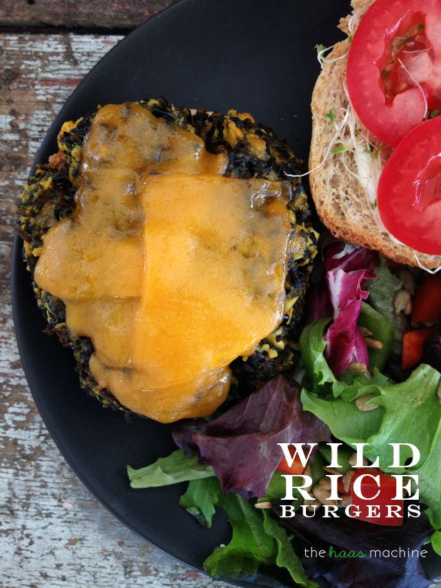 Wild Rice Burgers // The Haas Machine | Savory | Pinterest
