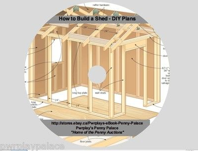 How to Build a Shed - DIY Plans eBook on CD