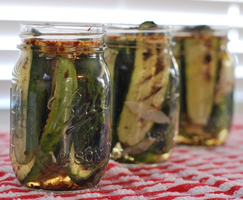 Nibble Me This: Grilled Sweet and Spicy Pickles