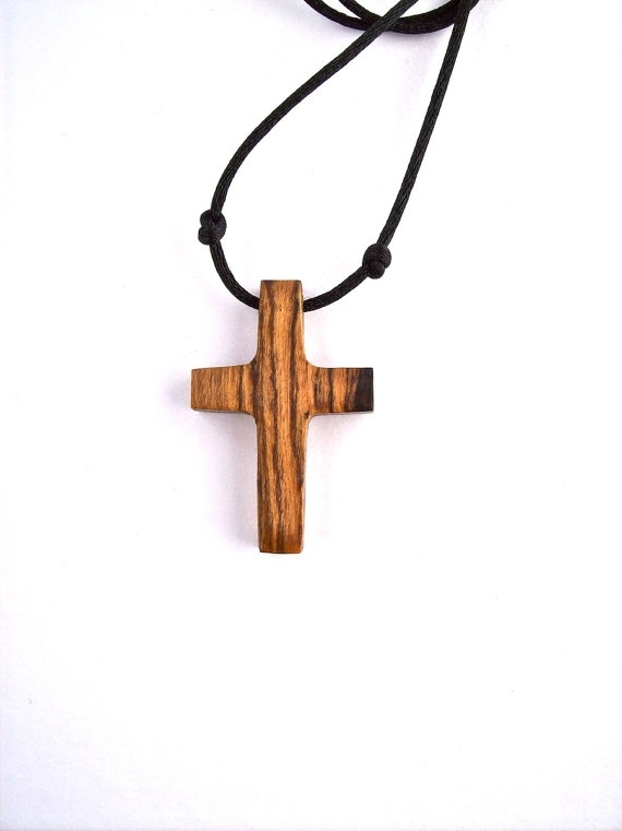 Wood Carved Cross, Handmade Cross, Wood Jewelry, Wood ...