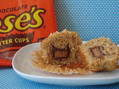 Peanut Butter Surprise Muffins.....peanut butter muffins stuffed with ...