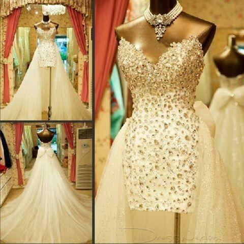 Blinged out wedding dress breathtaking wedding after for Blinged out wedding dress