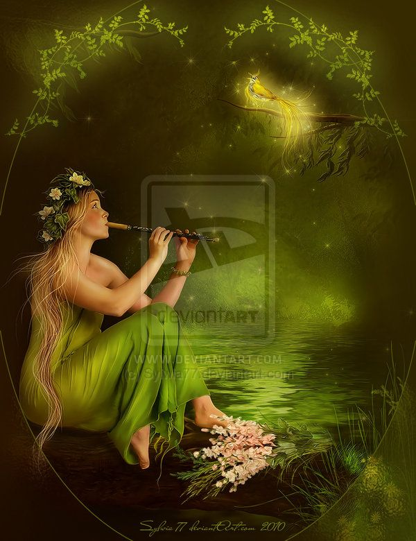 Forest Music... by =Sylwia77   Fantasy Musicians   Pinterest