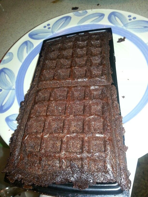 Waffle iron brownies! | Food | Pinterest