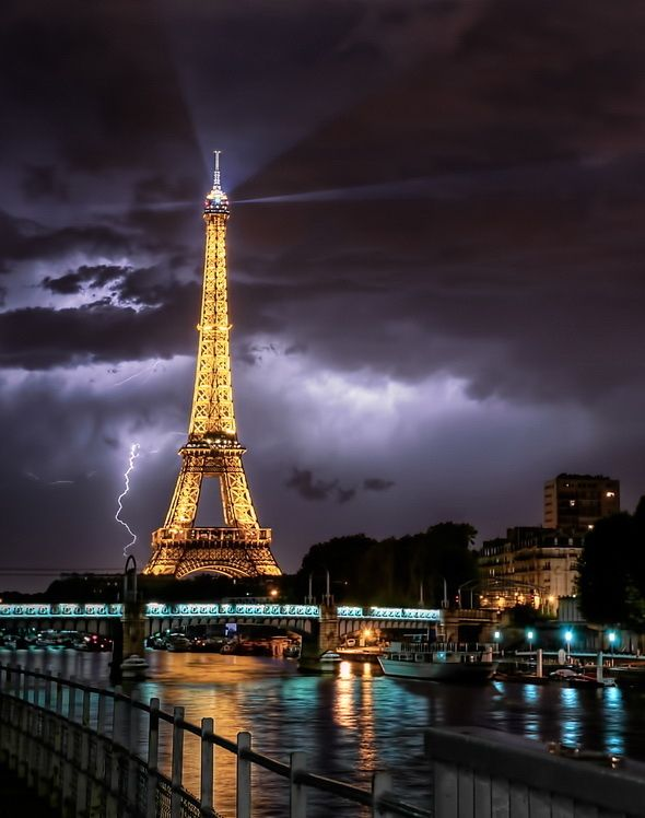 Ride the Lightning ! (amazing!!!  The only time I was ever able to go to the top of the Eiffel Tower (mid-70's) there was a major electrical storm and the tourist scared.
