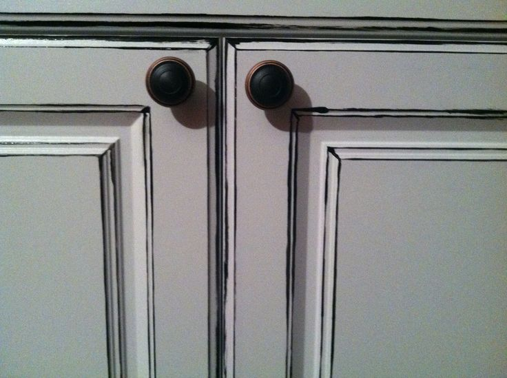 White Distressed Cabinets DIY Kitchen Cabinets Pinterest