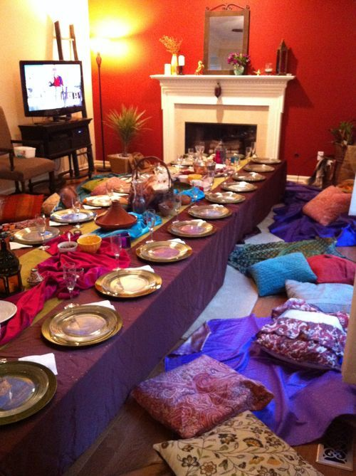 Arabian nights dinner middle east theme party planning for Secret dinner party