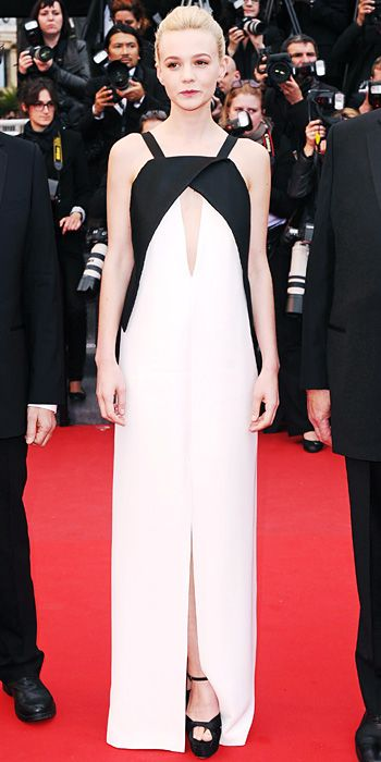 Carey Mulligan in black and white Vionnet in Cannes 2013