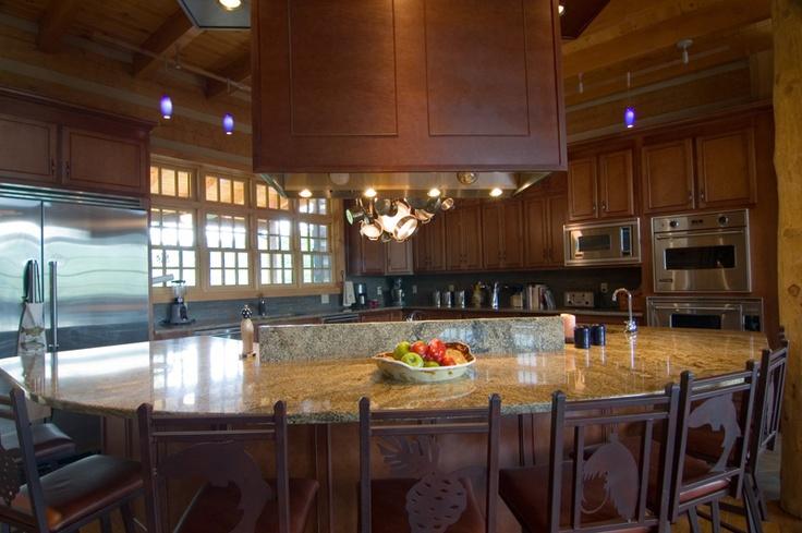 What A Beautiful Kitchen Log Cabin Dream House Pinterest