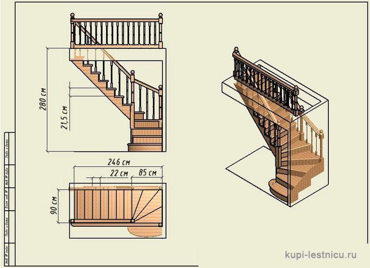 Забежная лестница своими руками 8129