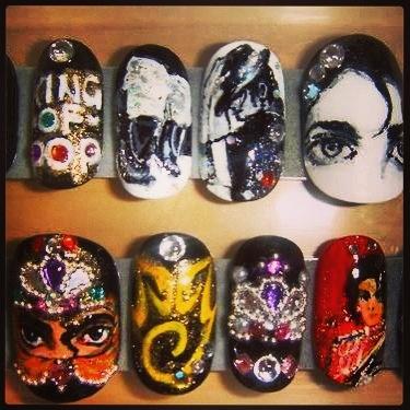 Michael Jackson nail art :)
