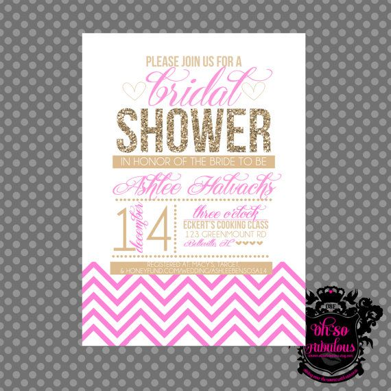 Glitter Bridal Shower Invitation - Customizable and PRINTABLE on Etsy ...