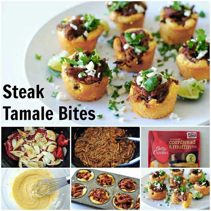 Steak tamale bites | appetizers | Pinterest