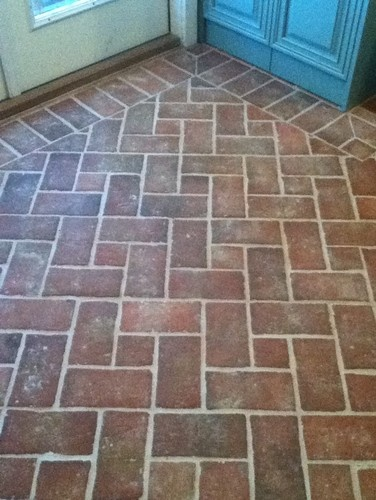 Brick Floor Floors Tile Pinterest
