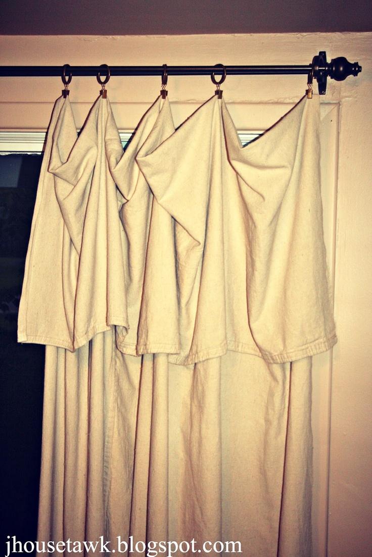 Drop Cloth Curtains | DIY/Craftiness | Pinterest