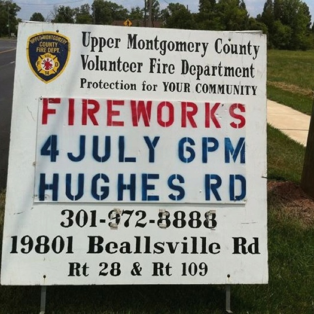 Come enjoy small-town, big charm fireworks in Poolesville, MD!