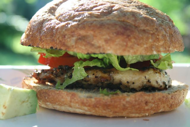 ... about this instead..Grilled Honey Lime Chicken Sandwich with Avocado
