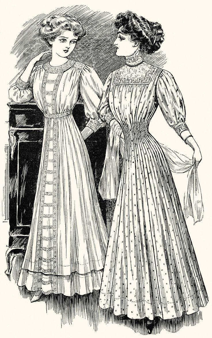 FREE Digital Images ~ Vintage Fashion for Girls and Women 1908 | Old Design Shop Blog