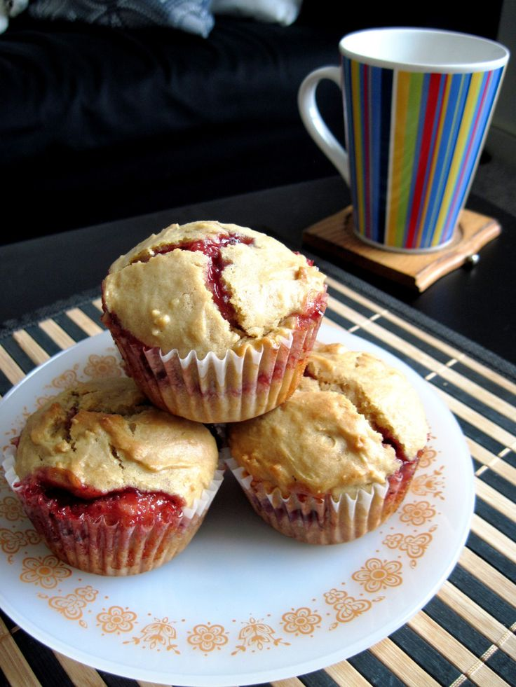 Peanut butter and jelly muffins | Food: Breakfast | Pinterest