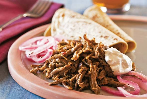 Yucatan-Style Slow-Roasted Pork. It can be served simply with salsa ...