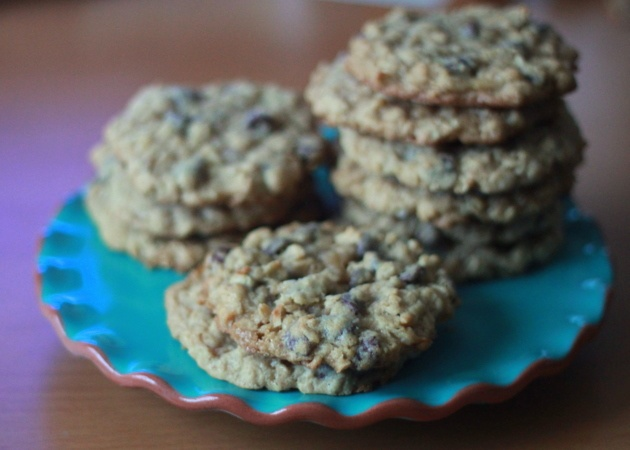 Cowboy cookies: oatmeal, coconut, choc chips! | sweet and sassy ...