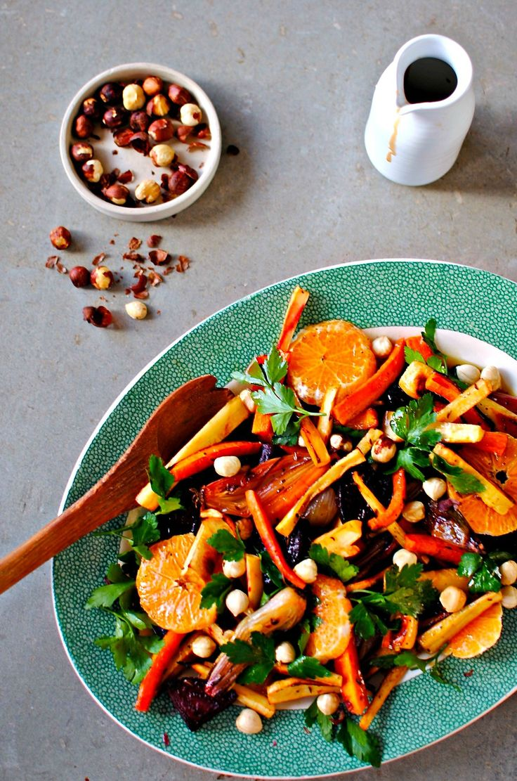 Citrus & Roasted Winter Vegetable Salad with Pomegranate Dressing http ...