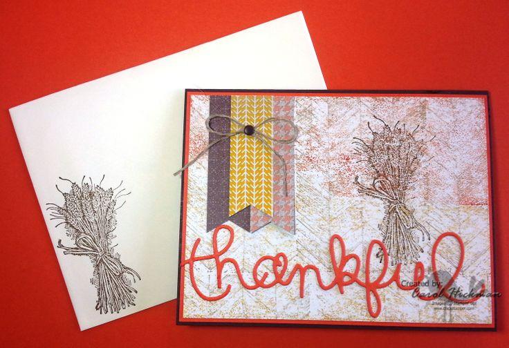 Stampin up chickstamper so thankful truly grateful stamp set