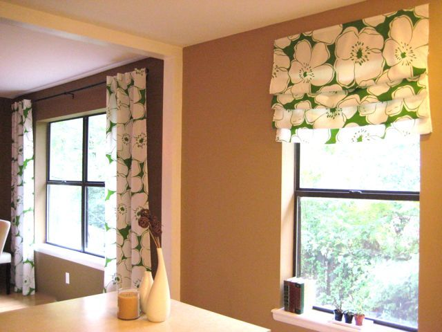 Pin by becky marzullo on kitchen pinterest for Roman shades for kitchen windows