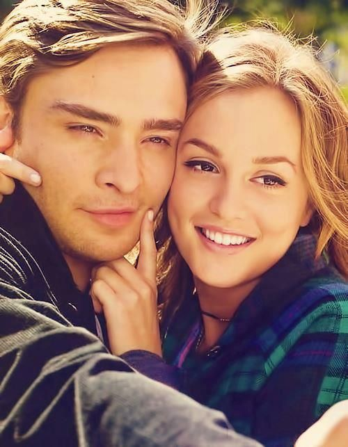 Ed Westwick and Leighton Meester. Chuck and Blair..... awww Best couple ever......