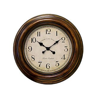 Veritime 24 quot  Burnished Rust Wall Clock   Furniture   Pinterest