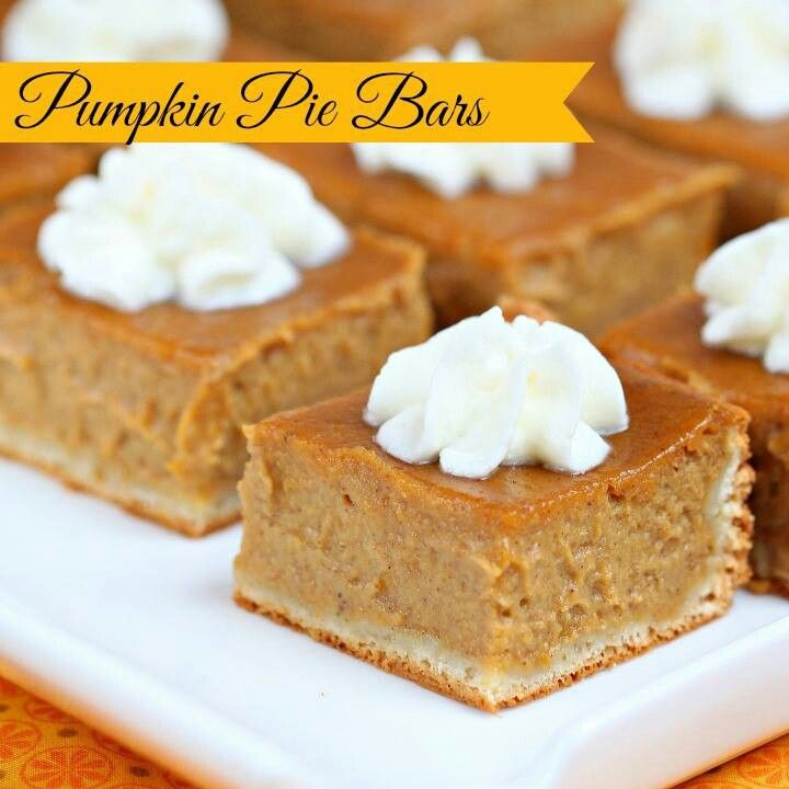 Pumpkin pie bars. | easy recipes | Pinterest