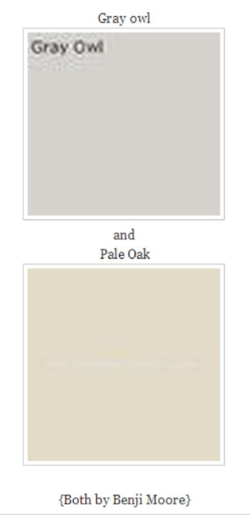 Gray Owl amp Pale Oak Color Paint Inspirations Pinterest