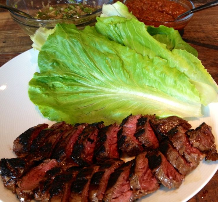 Momofuku-inspired Getaway marinated hanger steak ssam with red kimchi ...